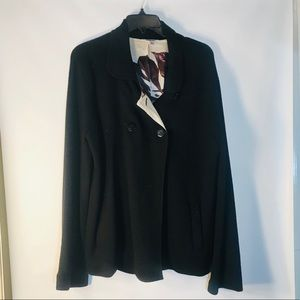 Women's Talbots Black Merino Wool Jacket-Sz XL